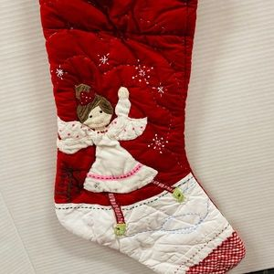 Quited hand crafted Christmas Angel stocking